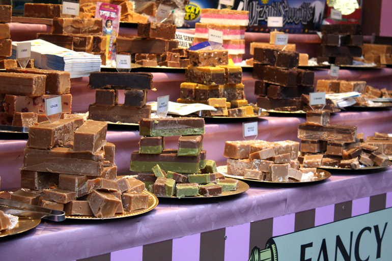 fudge stall southbank centre london christmas market