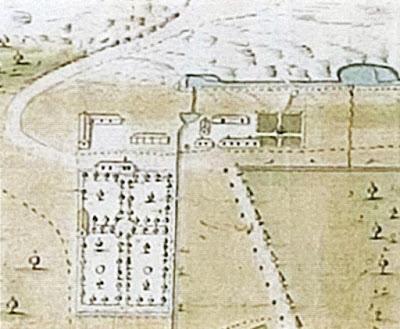 Сад Екатерины. План парка Кадриорг. XVIII в. Фрагмент.