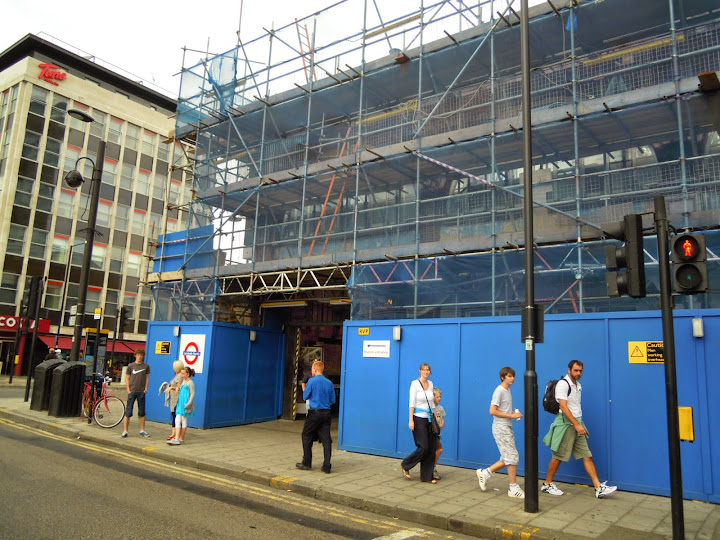 Lambeth North Tube - construction for the Olympics