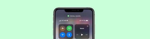 ماذا تعني النقطة الخضراء على الايفون؟