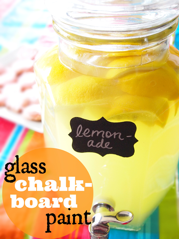 glass chalkboard paint