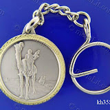 A Camel in Arabian Desert. Traditional Arabic impressions. Silver plated minted brass medal 35 mm in diameter.
