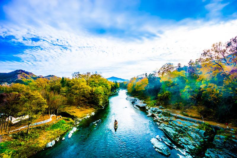 長瀞 荒川 金石水管橋 紅葉2