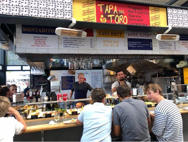 Torvehallerne food market Tapa del Toro