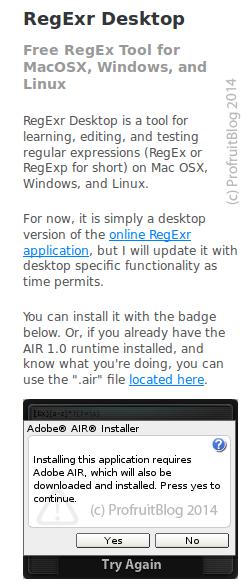 Инсталация на RegExr в Ubuntu 12.04