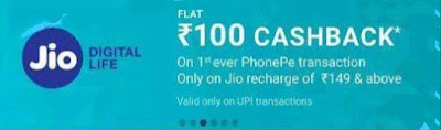 Cashback on Jio