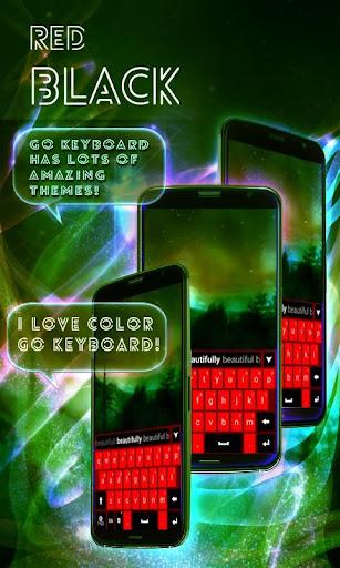 無料个人化Appのレッドブラックキーボードのテーマ|記事Game