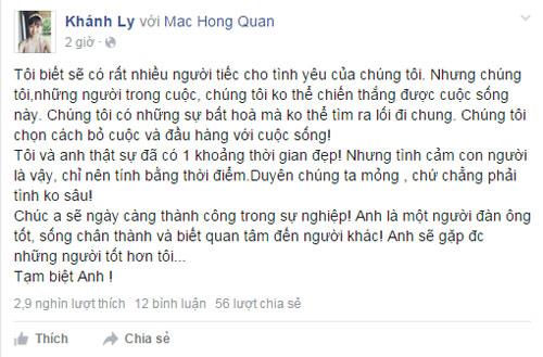 Mac Hong Quan va hot girl Ly Kute chia tay sau 6 thang hen ho  2