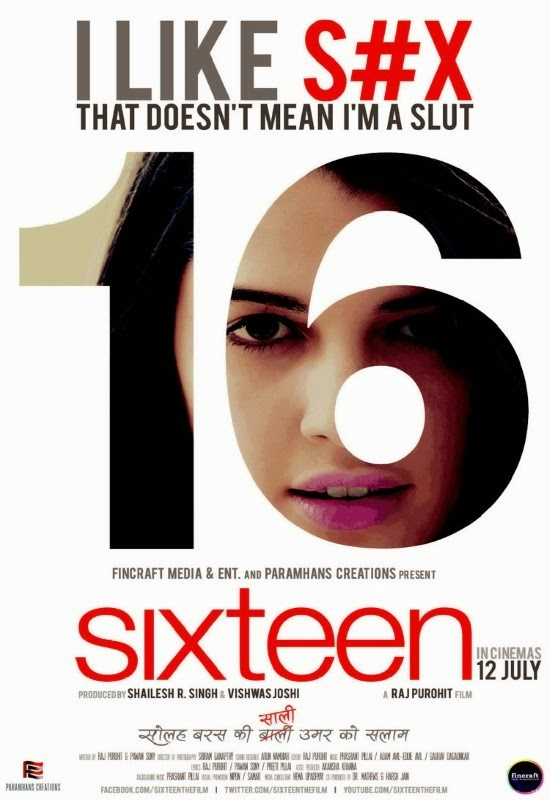 Poster Of Hindi Movie Sixteen (2013) Free Download Full New Hindi Movie Watch Online At Alldownloads4u.Com