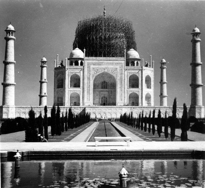 Restoration Picture of Taj Mahal