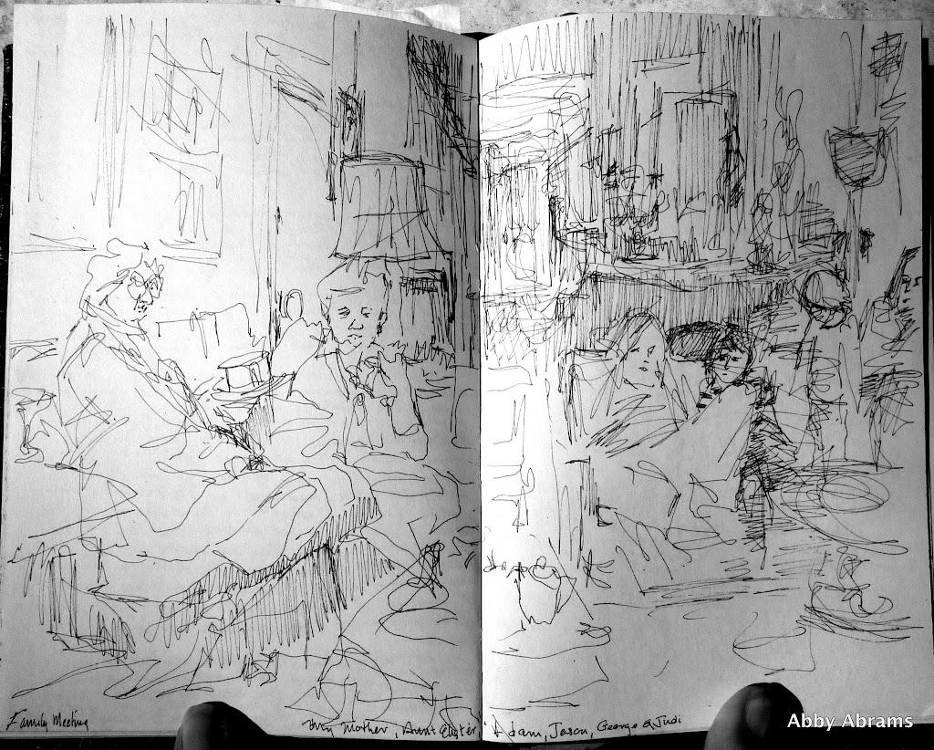 family mtg. sketch,'78