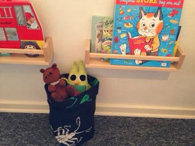 opbevaringspose i stof til legetøj