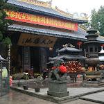 Ile Jiangxin : temple de Jiangxin, cour