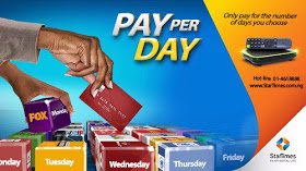 Startimes pay-per-day