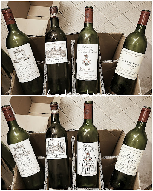 Discarding expensive empty bottles of wine by and for ©LeDomduVin 2021 (3)