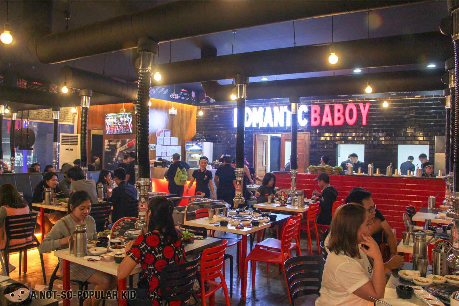 Interior of Romantic Baboy Korean Grilling in SM Light Mall