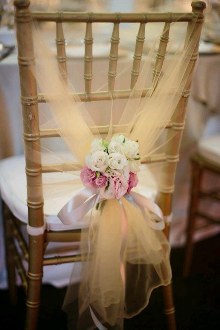 012238a59a Ideas para decorar sillas de fiesta usando tul