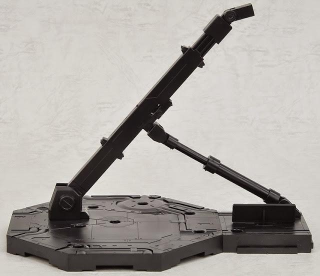 Chân đế dựng Gundam hình lục giác màu đen có thể điều chỉnh theo các hướng