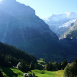 gorgeous view from the Grindelwald Gondola in Grindelwald, Bern, Switzerland