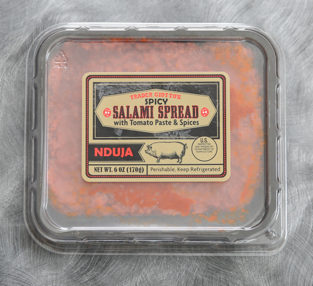 photo of a package of Nduja Spreadable Spicy Salami