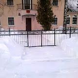 Детская школа искусств с утра уже расчищена от снега