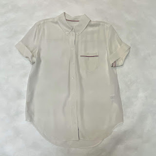 Equipment Shortsleeve Silk Blouse