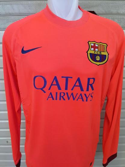 Jersey Barcelona Away Lengan Panjang 2014-2015