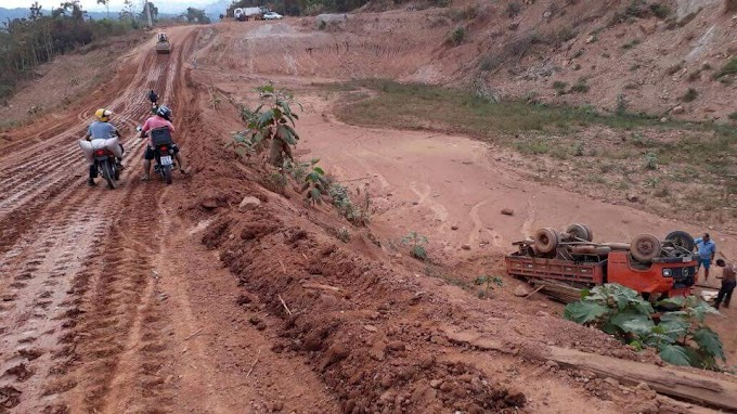 Brasil Novo: Acidente na ladeira da onça é mais um nos vários desvios da BR230