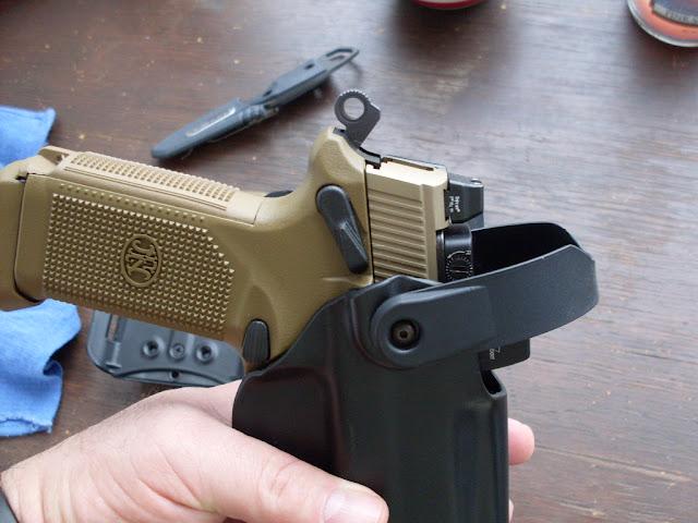Rec'd the Blade-tech WRS Duty Holster for my FNP-45 Tactical w/RMR
