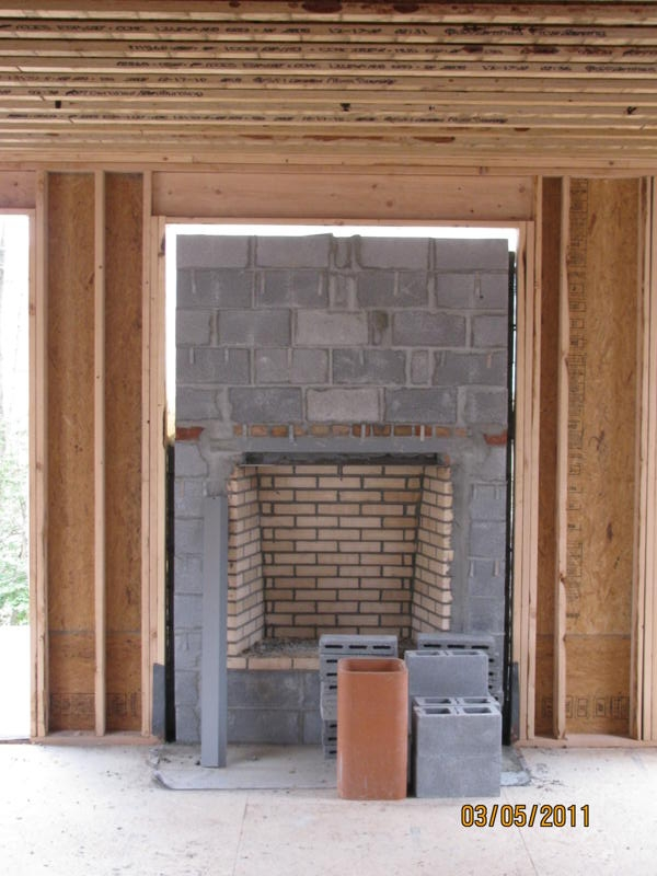 Current project new construction masonry fireplace for New construction fireplace