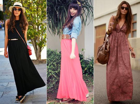 Como usar saia longa?