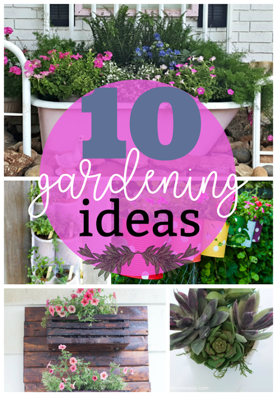 10 Gardening Ideas at GingerSnapCrafts.com #gardening
