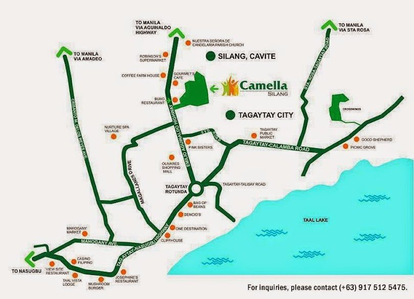 Vicinity Map Location Carmina Downhill - Camella Silang | Crown Asia Prime House for Sale Silang Cavite
