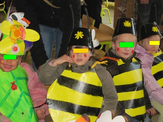 abeja disfraz