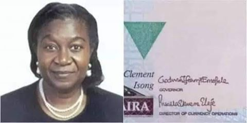 Meet Mrs Priscilla Ekwere Eleje The first woman to have her signature on the naira note.