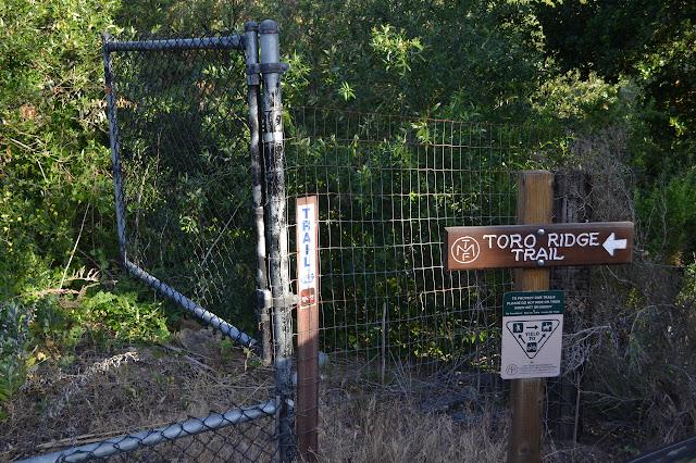 MTC Toro Ridge Trail sign