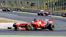 Fernando Alonso racing his Ferrar F138