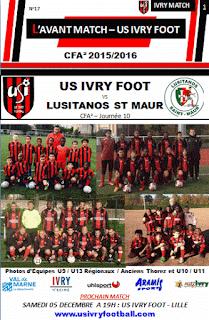 PROGRAMME MATCH IVRY FOOT - LUSITANOS