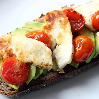 Halloumi And Avocado Sandwich.