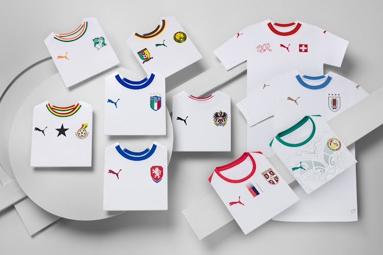 2be562d6a0d The ten national team Federations that will wear the new Puma jerseys  released by the global
