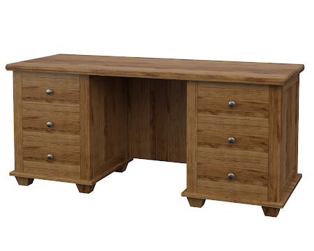Monrovia Executive Desk in Lamar Maple
