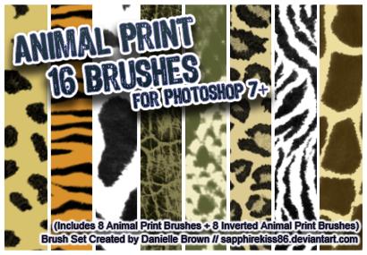 Photoshop Animal Print Brush Set