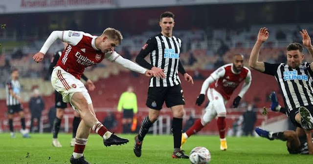 FA CUP : Arsenal Survives Tough Newcastle To Reach Fourth Round
