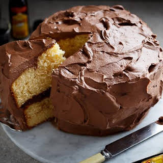 Butter Cake with Kahlua Chocolate Frosting.
