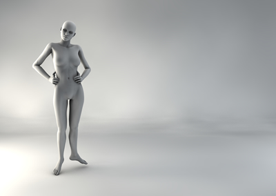 femme 3D pose naturelle SP 10