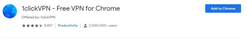 1clickVPN - Free VPN for Chrome