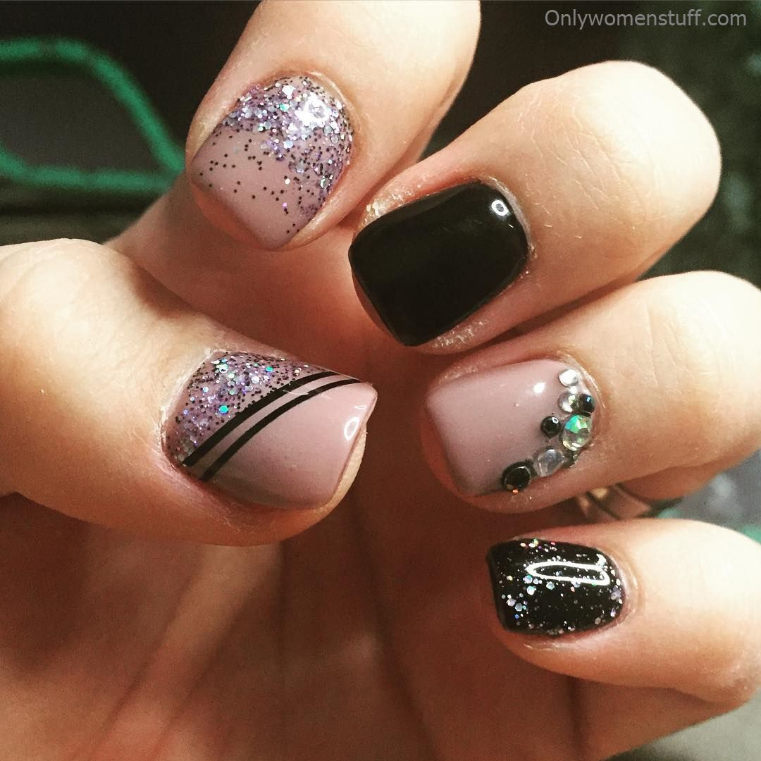 Simple Nail Art Designs Gallery: Top 25 Pretty Dark Gel Nail Art Designs Trendy 2018