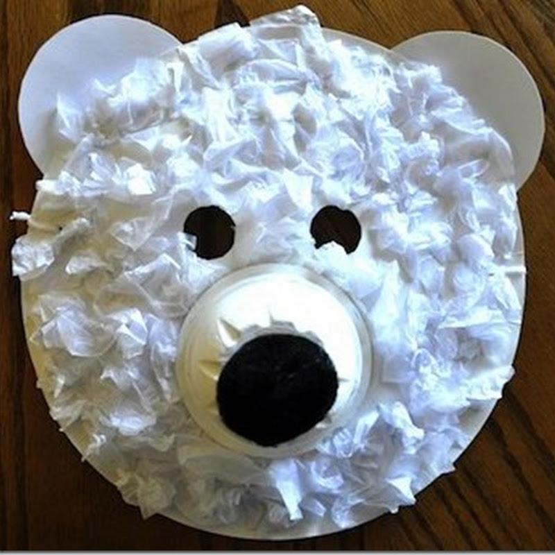 Manualidades máscara de oso polar