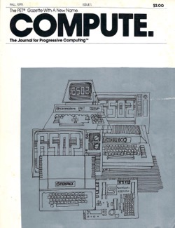 Historical Technology Books:  Compute! Magazine Issue 001 (1979) - 8 in a series