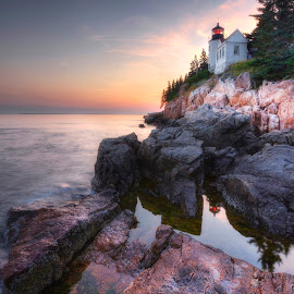 Ocean's Calm by Ken Smith - Buildings & Architecture Public & Historical ( maine, acadia national park, lighthouse, bass harbor lighthouse, landscape )
